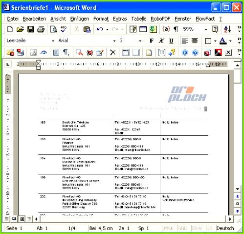Soll Liste am Bildschirm so aussehen wie sie später gedruckt wird so drücken Sie Ihre Taste [F12] und dann den Buchstaben o o wie Originalansicht