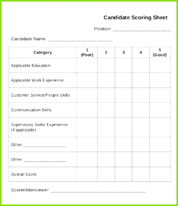 Berühmt Score Sheet Vorlage Bilder Entry Level Resume Vorlagen