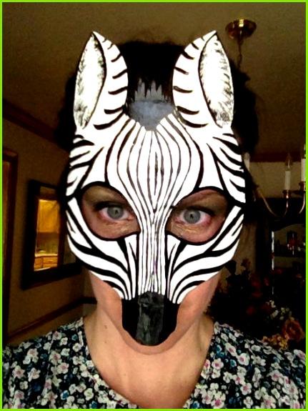 Máscara de cebra traje de cebra cebra del colgante de pared