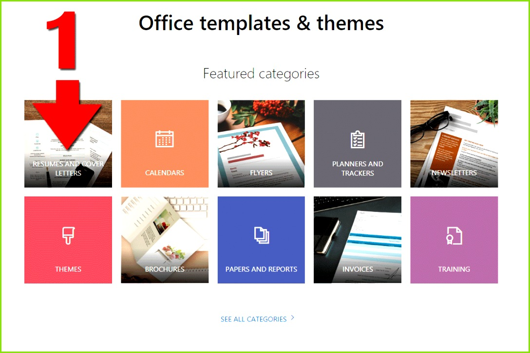 Screenshots showing how to find free Word templates online from Microsoft s website