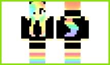 minecraft skin Rainbow Cat Girl