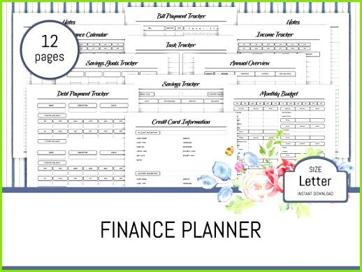 Finance Planner Printable Bud Planner Monthly Saving Task Tracker Debt Bill Payment Tracker Finance Calendar Yearly Overview PDF Binder