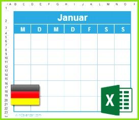 Kalender mit DEU Feiertagen 2018 Excel