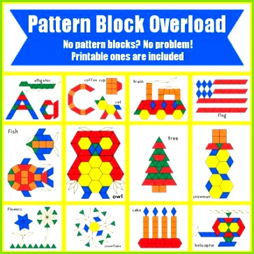 FREE Pattern Block Templates Abc