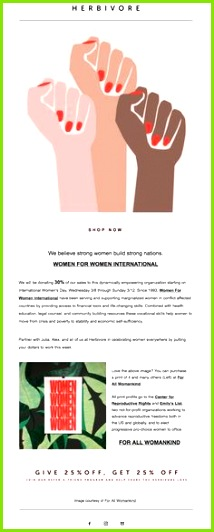 Herbivore international women s day ♥ Women For Women ♥
