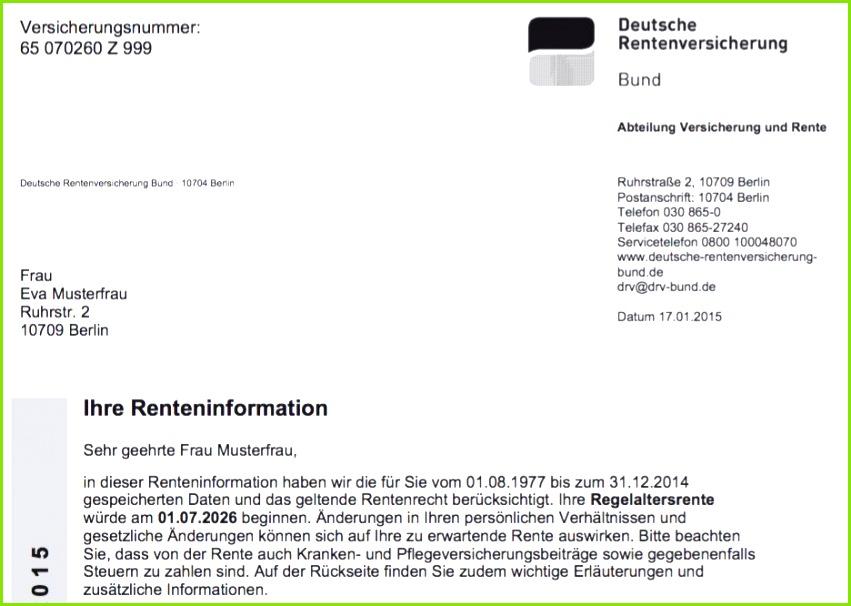 Die jährliche Renteninformation Was zwischen den Zeilen steht Ausgezeichnet Kostenlose Nummer Zeilenvorlage
