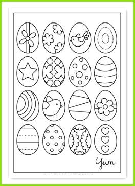 Osterei Vorlage · Gelassenheit · Eiermalvorlage