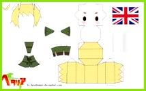 Hetalia England Papercraft