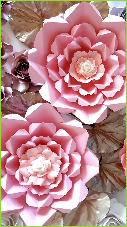 Paper Flower Template PDF and SVG digital files and tutorial 4 Paper Flowers Pinterest