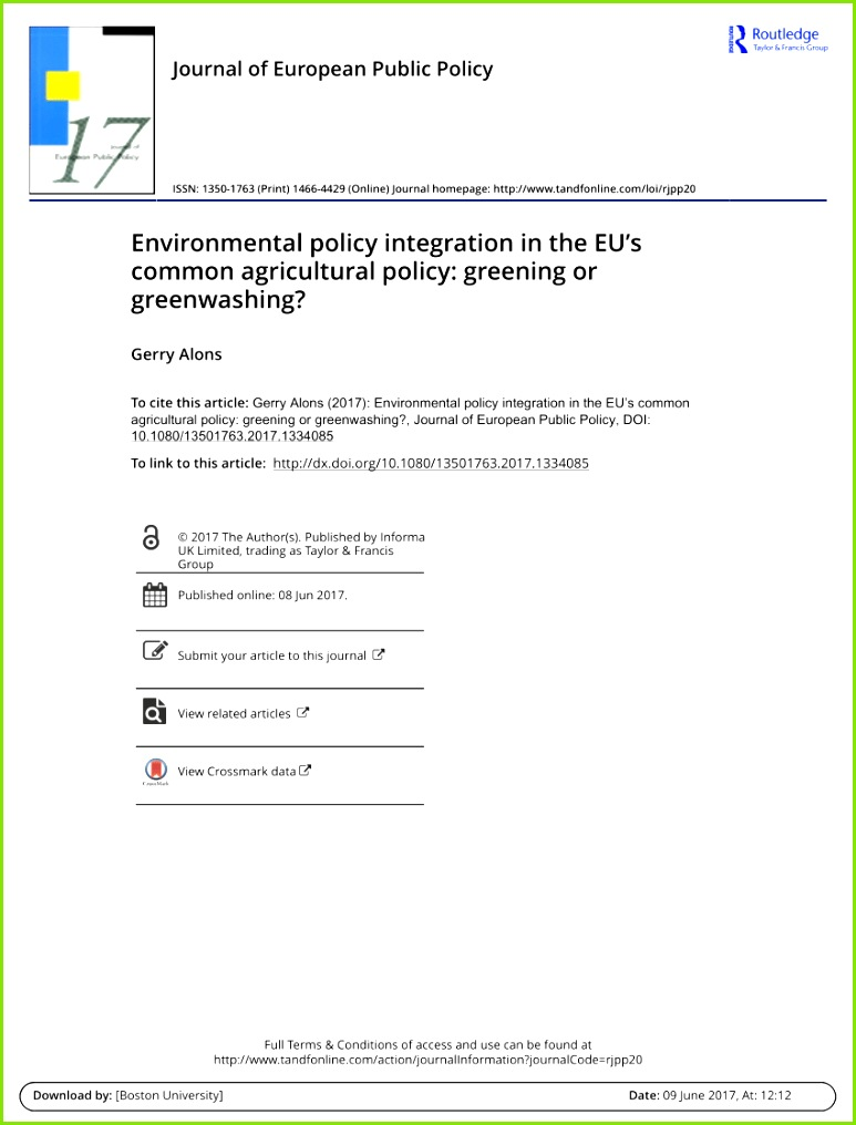 PDF For an EU mon Agricultural Policy serving the public good after 2020 Fundamental questions and re mendations