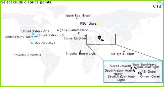 Crude oil map