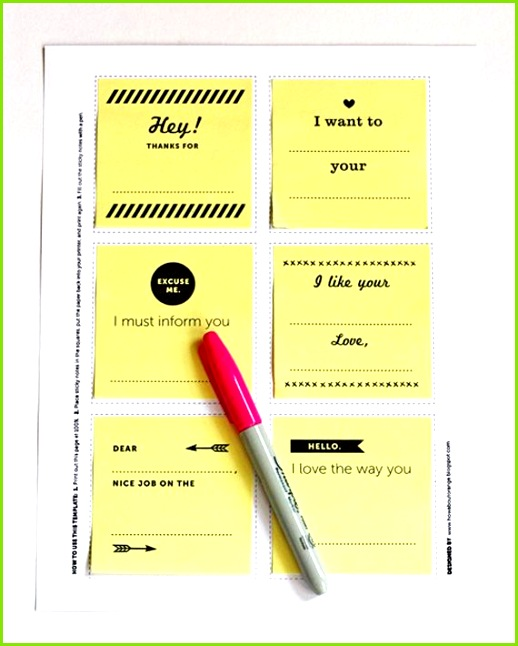 Create your own Post it notes in Crafts for home stationery and paper for birthdays anniversaries or dinners Card Ideas