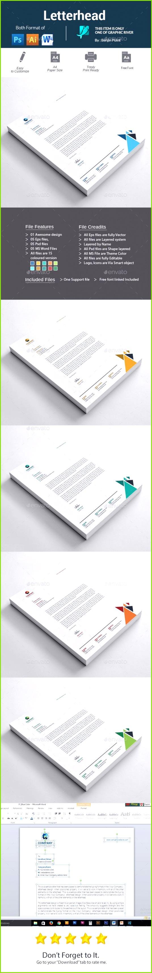 Letterhead Template PSD Vector EPS AI Illustrator MS Word
