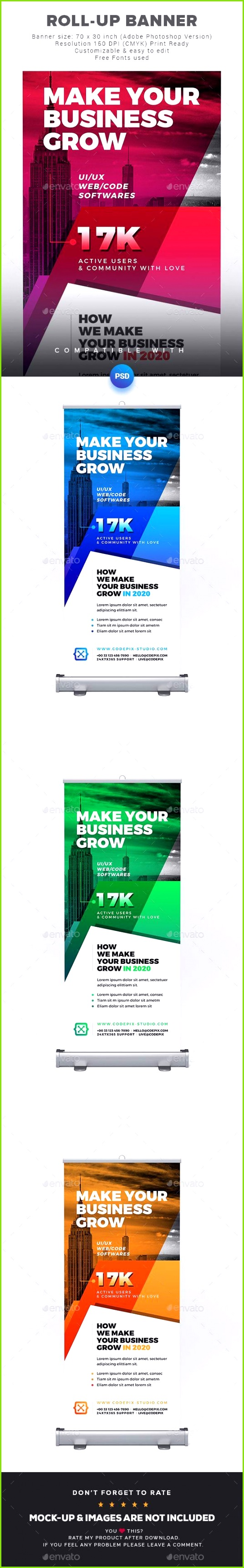 1822 best Roll Up Banner Templates images on Pinterest