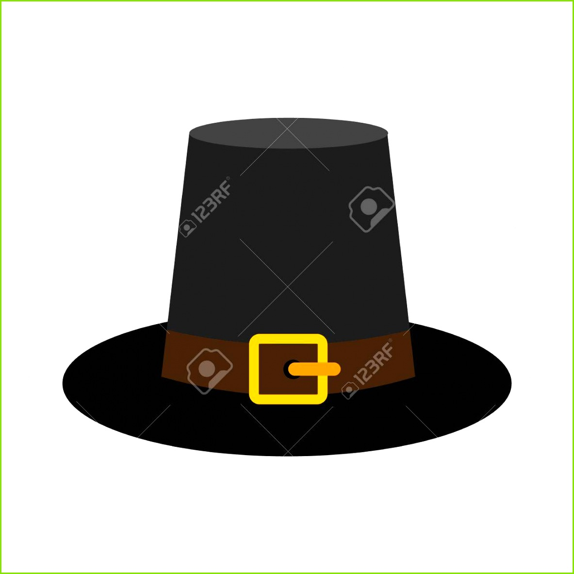 Herrliche Pilger Hut Symbol in flachen Stil isoliert auf weißem Hintergrund Standard Bild
