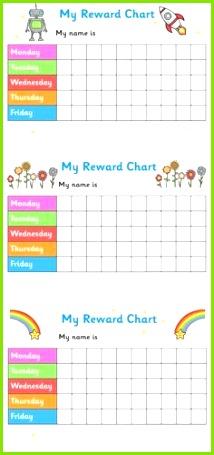 Printable Reward Chart For Teachers