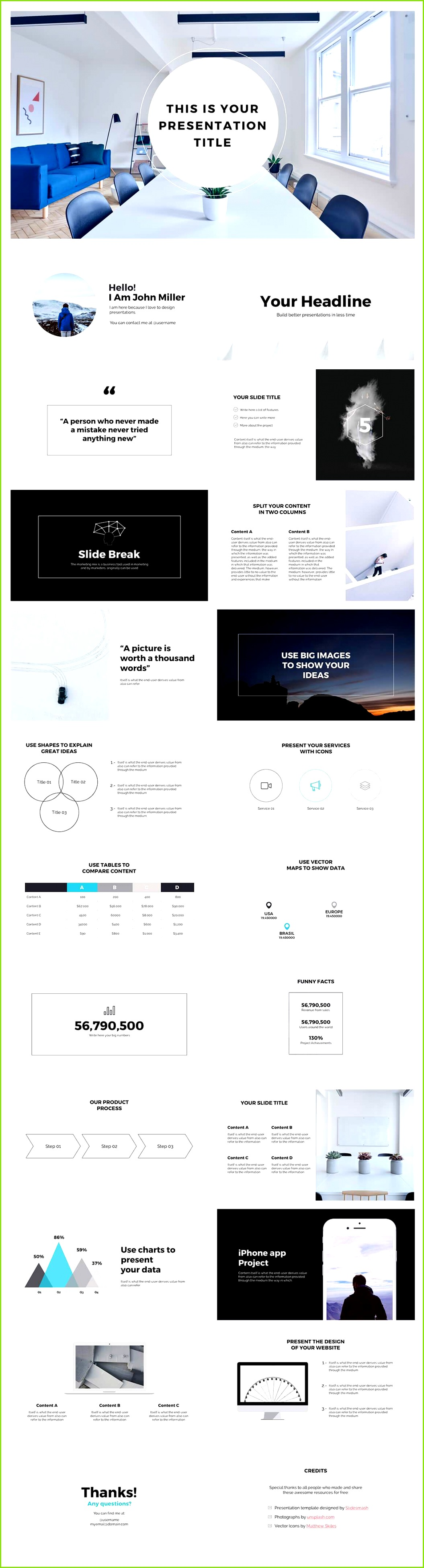 business strategy powerpoint template presentation slides preview