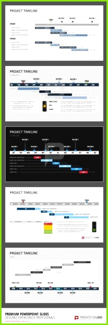 This set of templates offers a selection of individually designed Gantt Charts