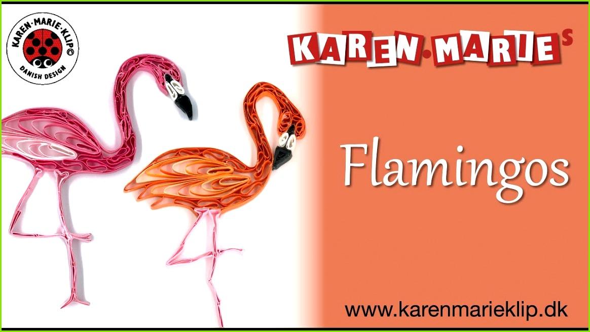 Quilling Paper Flamingos Karen Marie Klip & Papir