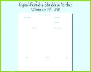 Project planner US letter size printable and digital Goodnotes and editable in Acrobat