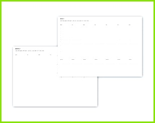 UNDATED PLANNER PRINTABLE organizer 8 kinds of pages templates calendar project management worksheets