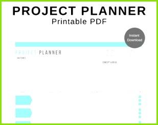 Projektplaner druckbare digitale PDF Arbeitsblatt Formular erhältlich in Größe Vorlage einfügen