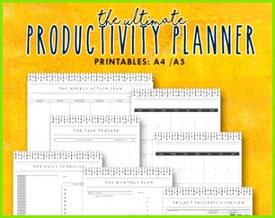 Der ultimative Produktivität Planer 7 in 1 wesentliche Planer Bundle The Projekt Planner Productivity Arbeitsblätter