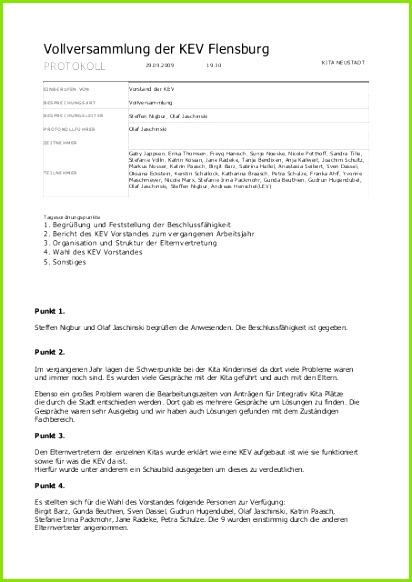 kev fl protokoll 2009 09 29 kita elternvertretungen sh