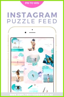 Tropical Instagram Template Puzzle Feed Template Instagram tips instagram theme instagram feed themes