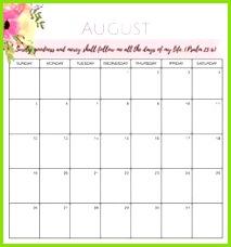 August 2018 Druckbare Kalendervorlage