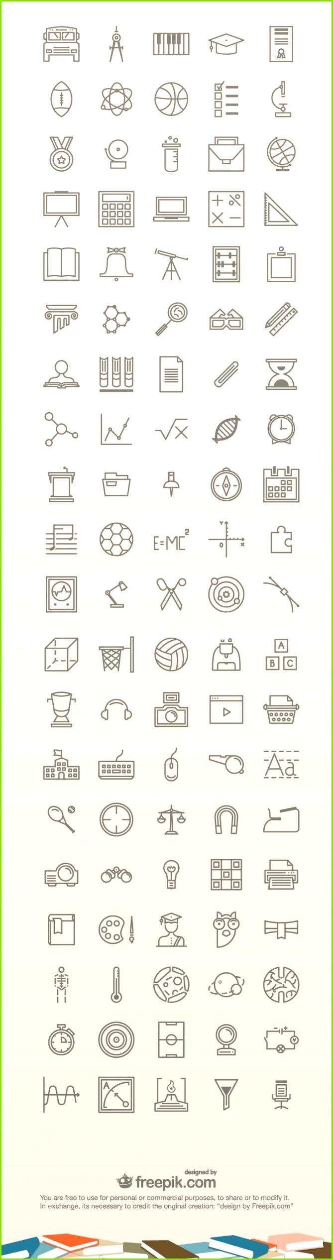 100 Free Education Icons