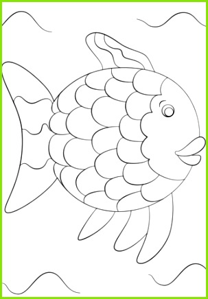 rainbow fish template coloring page free printable coloring pages