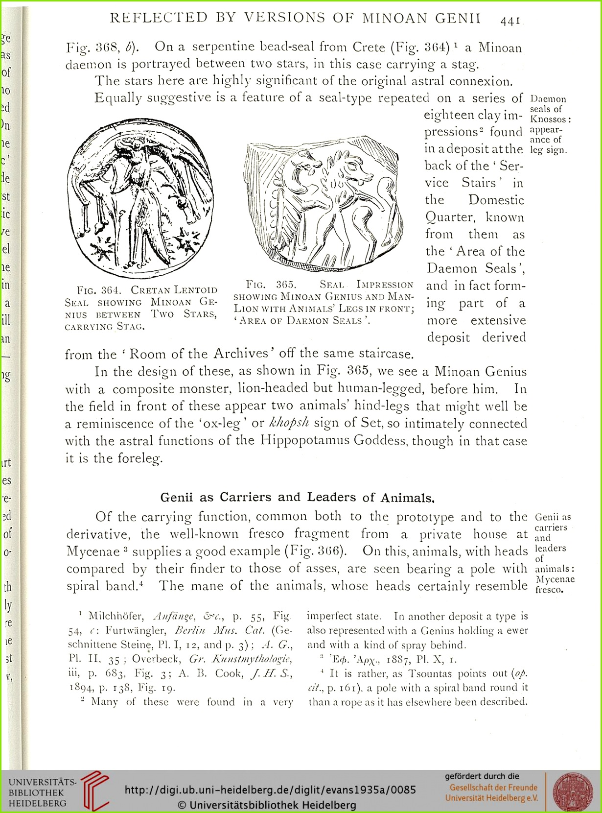 Evans Arthur J The Palace of Minos a parative account of the successive stages of the early Cretan civilization as illustred by the discoveries at