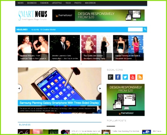 Responsive Website Templates Great Responsive Web Design Templates Magazine Template 0d Wallpapers 44