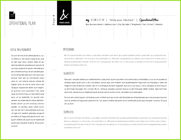 57 Beautiful Business Plan Template for Pages