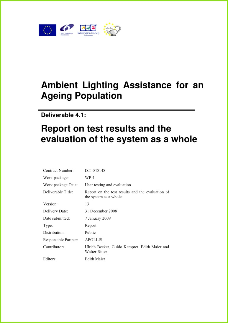 PDF Ambient Lighting Assistance for an Ageing Population