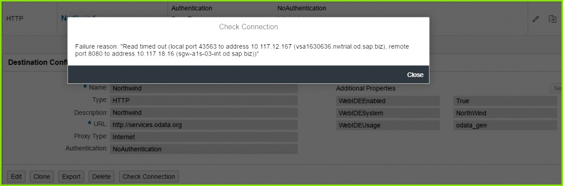"""Failure reason """"Read timed out local port to address 10 117 12 167 vsa nwtrial odpz remote port 8080 to address 10 117 18 16"""
