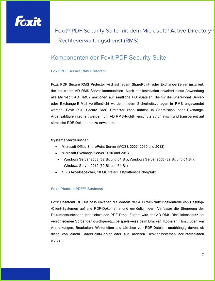 Nach der Installation erweitert se Anwendung alle Microsoft AD RMS Funktionen auf sämtliche PDF
