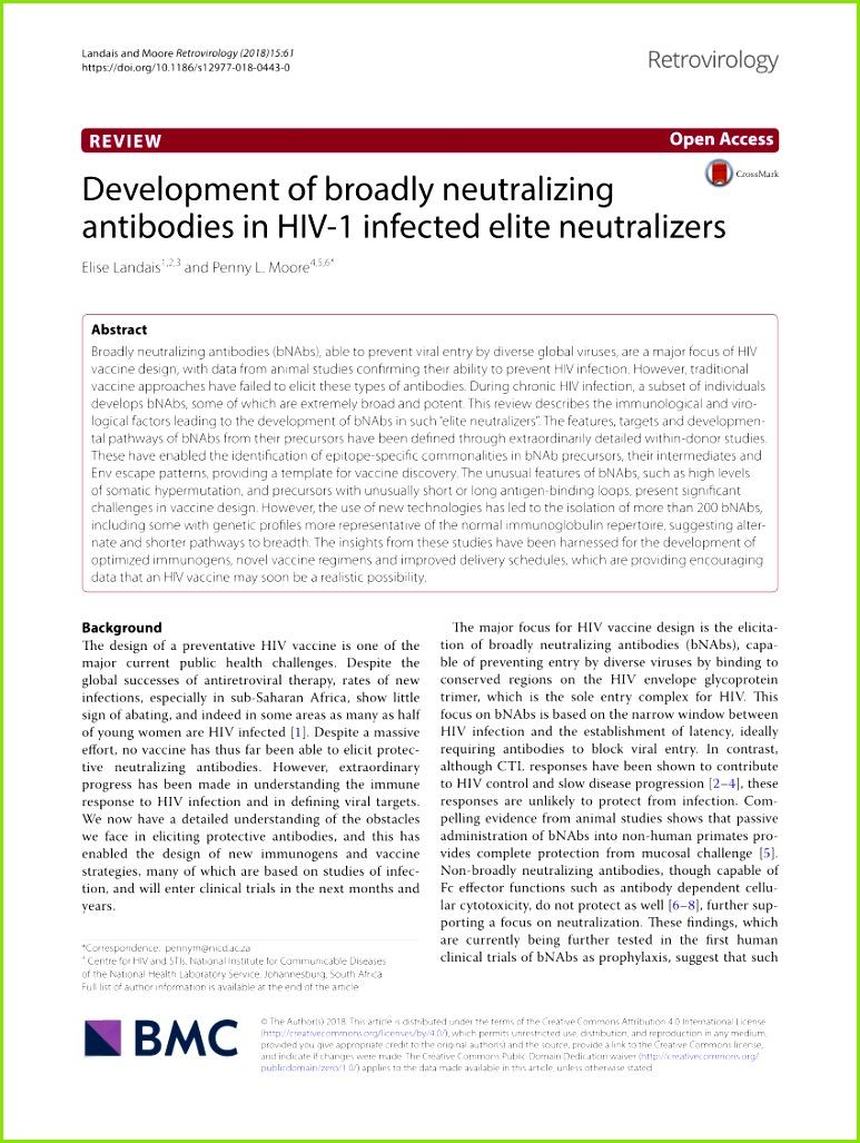 PDF Broadly Neutralizing Antibody Responses in a Longitudinal Sub Saharan HIV Primary Infection Cohort