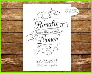 Moderne Glitterliner druckbare Schriftzug sparen das Datum handgeschriebene Postkarte rustikalen Speichern der schwarzen und weißen Hochzeit Ankündigung