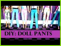 How to Make Barbie Doll Pants Doll Clothes EASY