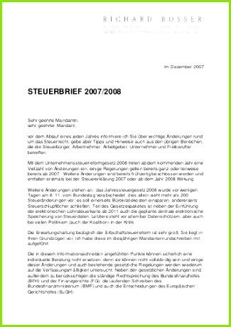 STEUERBRIEF 2007 2008 Richard Bosser