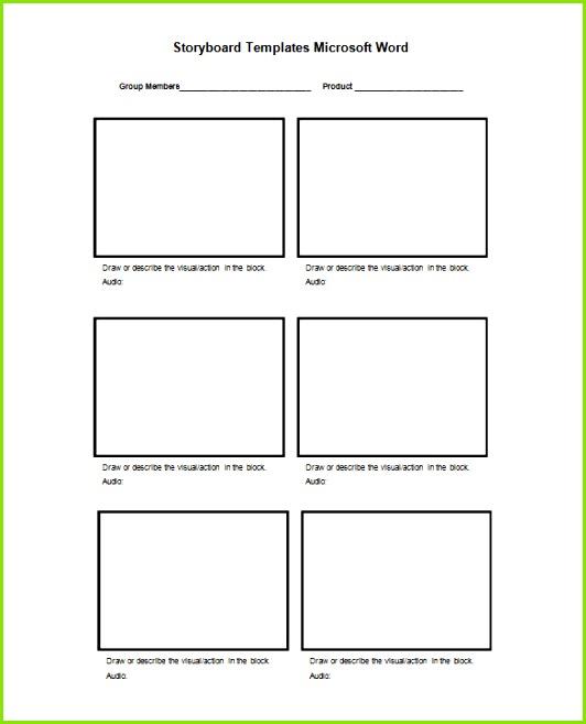 Free Storyboard Template in Microsoft Word