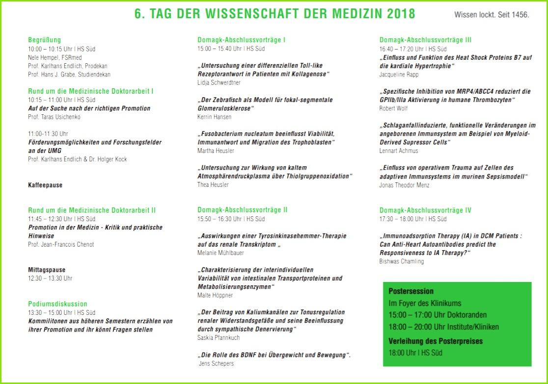 Programm 2018