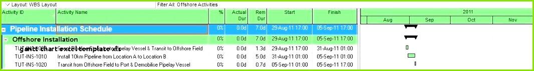 Gantt Chart Excel Template Xls Free Gantt Chart Template Excel