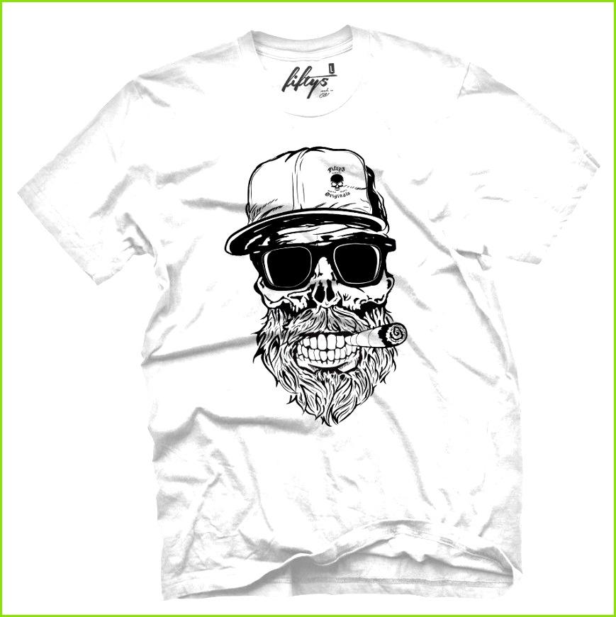 Großhandel Vorlagen Hipster Schädel Männer T Shirt Mens 2018 Art Und Weise Marken T Shirt Oansatz Baumwolle T Shirt übersteigt T Stück