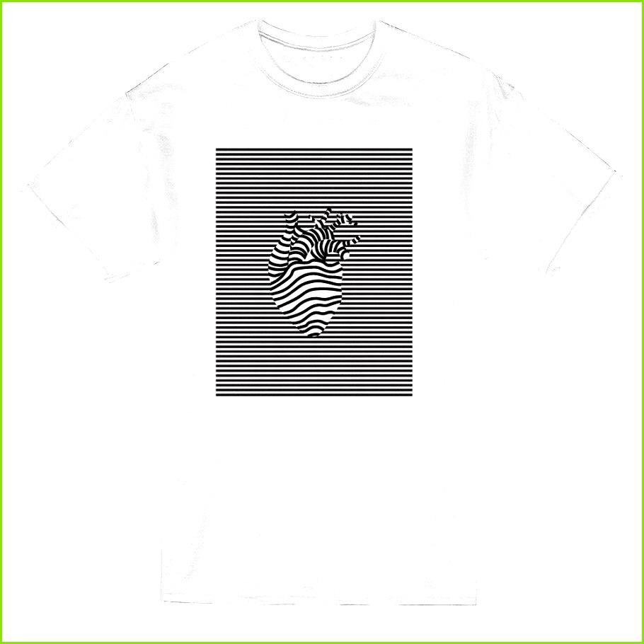 Großhandel Herz Form In Der Linie Muster Grafik Männer T Shirt Mens 2018 Art Und Weise Marken T Shirt Oansatz Baumwollt Shirt übersteigt T Stück