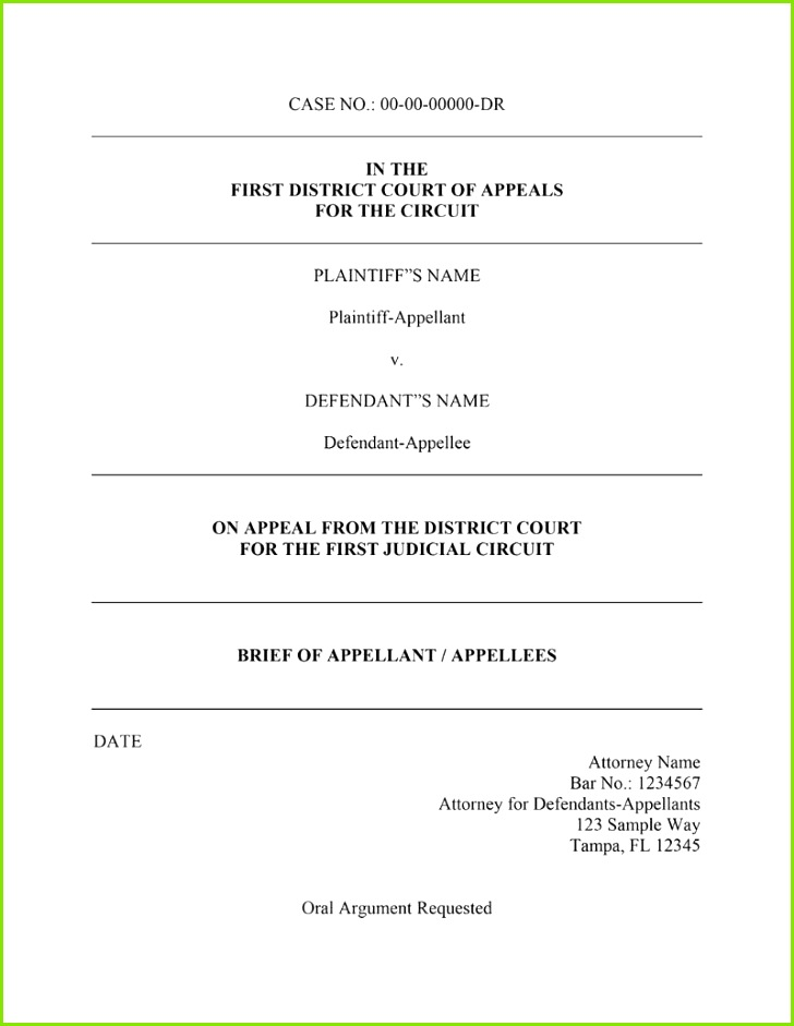appellate brief template word