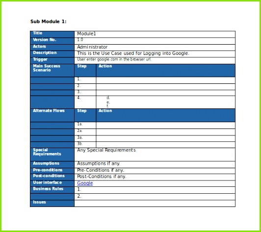 Free Editable Use Test Case Template MS Word Download