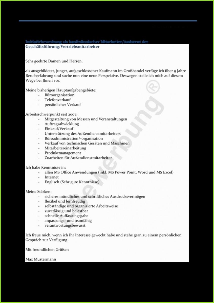 Formulierung des Anschreiben zur Initiativbewerbung